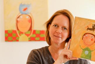 Petra Kill malt Kunst fürs Kinderzimmer